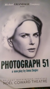 Nicole Kidman in Photograph 51 program. Image credit abmj